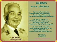 Muôn đời nhớ ơn Đại tướng Võ Nguyên Giáp